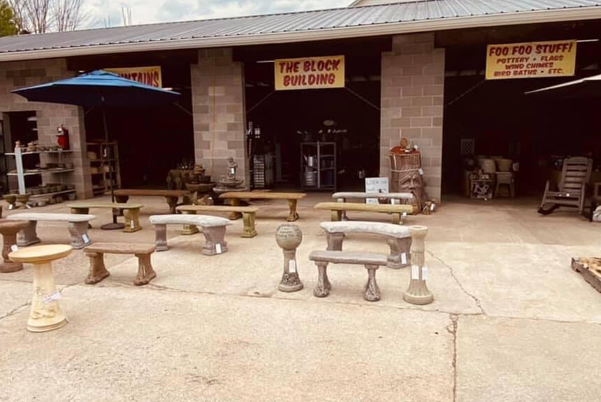 Marshall County Co-Op Benches
